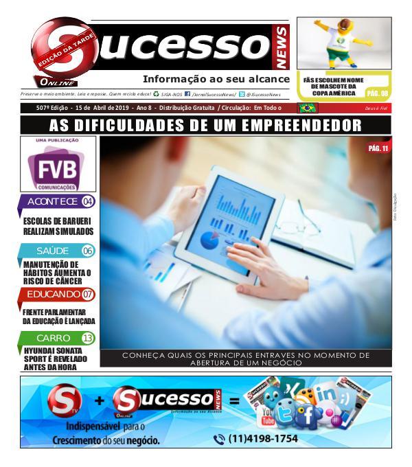 Jornal Sucesso News Jornal Sucesso News - Edição - 507 ONLINE