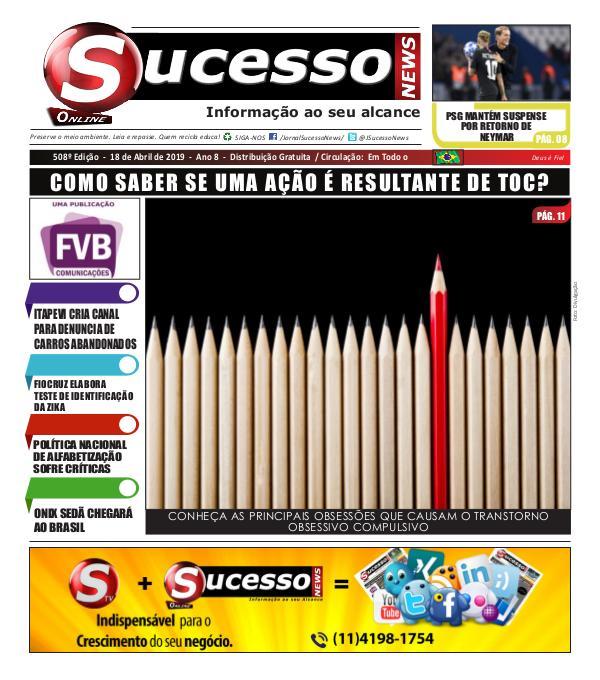 Jornal Sucesso News Jornal Sucesso News - Edição - 508 ONLINE