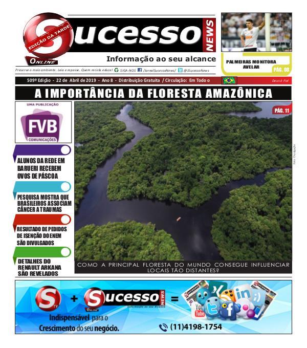 Jornal Sucesso News Jornal Sucesso News - Edição - 509 ONLINE