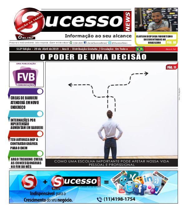 Jornal Sucesso News Jornal Sucesso News - Edição - 512 ONLINE