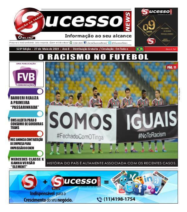 Jornal Sucesso News Jornal Sucesso News - Edição - 523 ONLINE