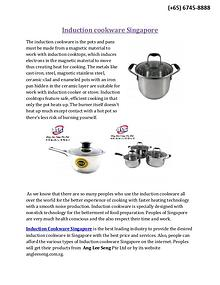 Induction Cookware Singapore