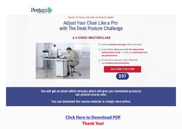 Desk Posture Challenge PDF Ebook Free Download