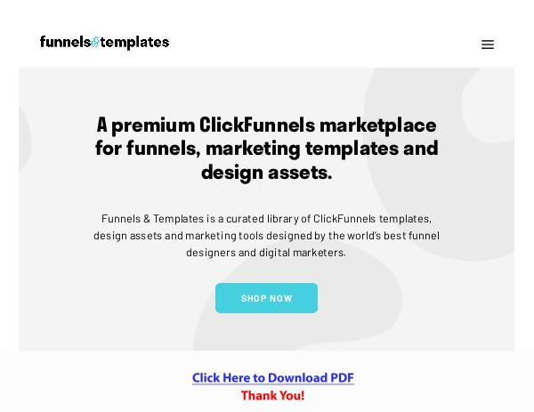 Funnels & Templates PDF Free Download