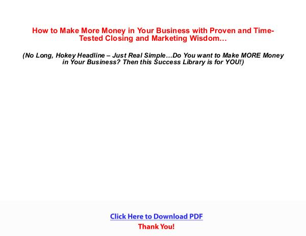 Ultimate Closing and Marketing Success Library [PDF]