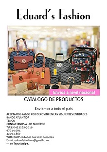 CATALOGO DE PRODUCTOS EDUARD'S FASHION