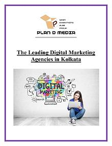 The Leading Digital Marketing Agencies in Kolkata