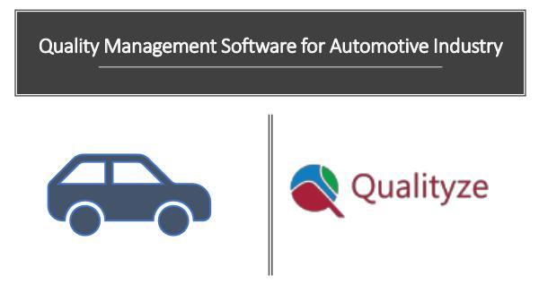 Quality Management software for Automotive Industry quality management software for automotive industr