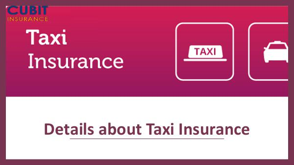 Details about Taxi Insurance