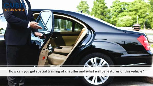 How can you get special training of chauffer and w