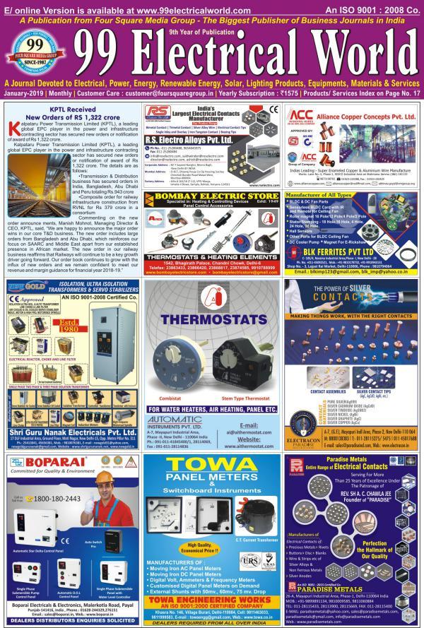 99 Electrical World Jan 2019 99 ELECTRICAL WORLD JAN-2018
