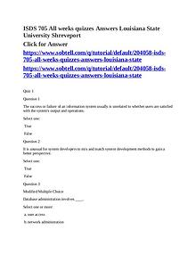 MKT 710 Complete Course Louisiana State University Shreveport