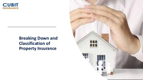 Breaking Down and Classification of Property Insurance Breaking Down and Classification of Property Insur