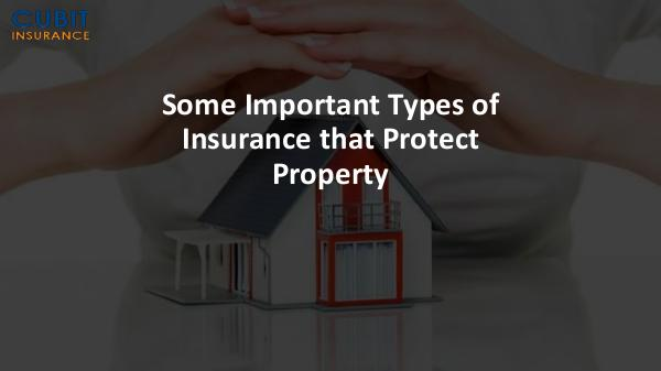 Some Important Types of Insurance that Protect Property Some Important Types of Insurance that Protect Pro