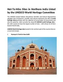 Sites in Northern India Listed by the UNESCO World Heritage Committee