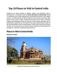 Top 10 Places to Visit in Central India