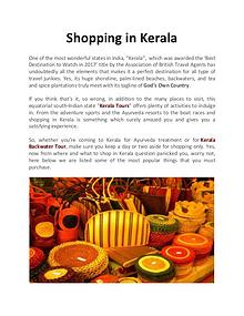 Shopping in Kerala