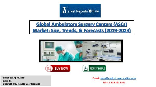 Global Ambulatory Surgery Centers Market Analysis and Forecast 2023 April 2019