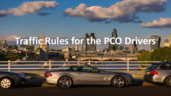 How can you protect yourself as a PCO car driver? Traffic Rules for the PCO Drivers