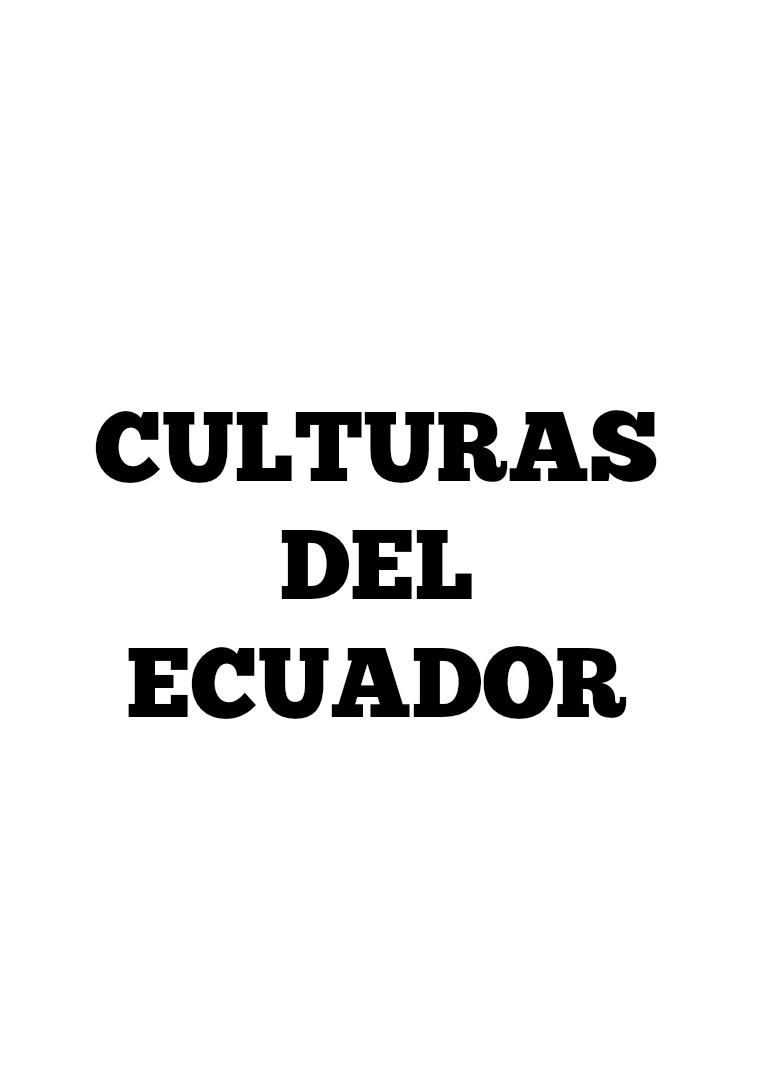 Culturas del Ecuador 1
