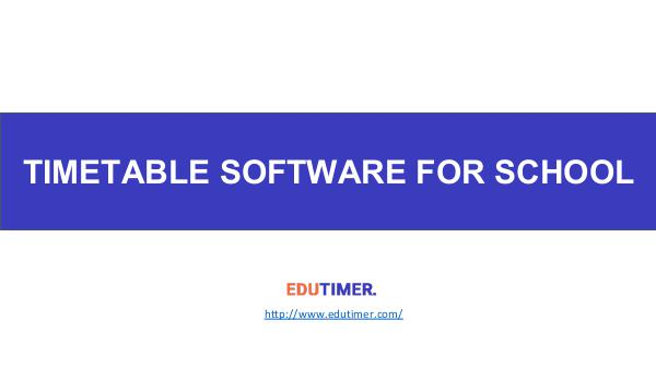 Timetable Software for Schools Timetable Software for Schools