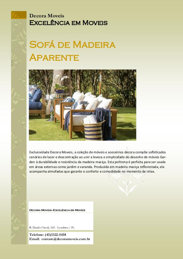 Sofas de Madeira Aparente catalago