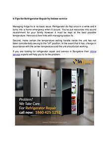 Refrigerator  Repair and Service -Bangalore