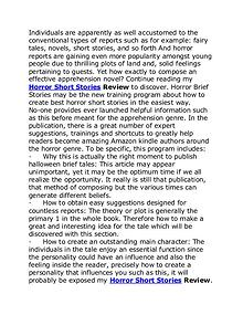 Horror Short Stories Review