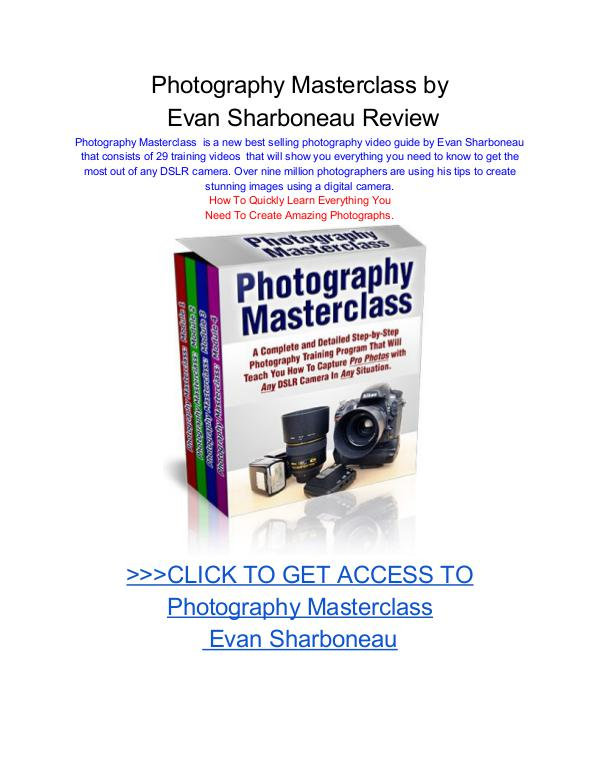 Photography Masterclass Evan Sharboneau Photography Masterclass by Evan Sharboneau pdf dow