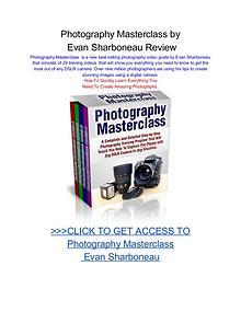 Photography Masterclass Evan Sharboneau