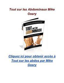 Tout sur les Abdominaux Mike Geary