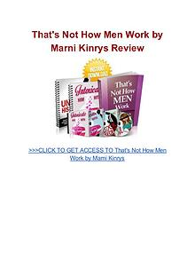 That's Not How Men Work Marni Kinrys pdf download