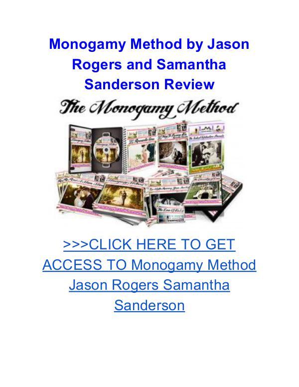 Monogamy Method Jason Rogers Samantha Sanderson Monogamy Method Jason Rogers Samantha Sanderson