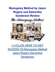 Monogamy Method Jason Rogers Samantha Sanderson