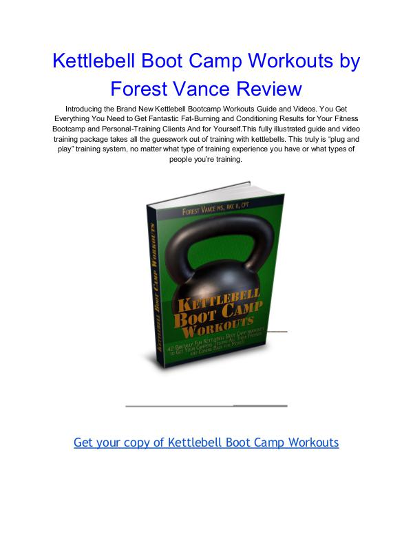 Kettlebell Boot Camp Workouts Forest Vance pdf download Kettlebell Boot Camp Workouts Forest Vance Review