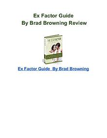 Ex Factor Guide Brad Browning pdf download