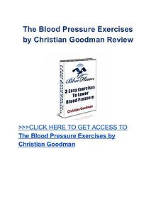Blood Pressure Exercises Christian Goodman review