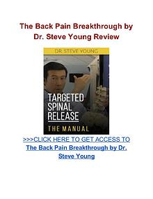 The Back Pain Breakthrough Dr. Steve Young