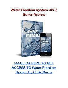 Water Freedom System Chris Burns review