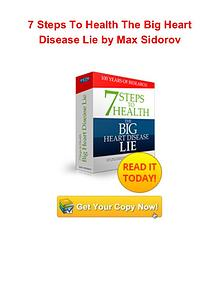 7 Steps To Health The Big Heart Disease Lie Max Sidorov pdf download
