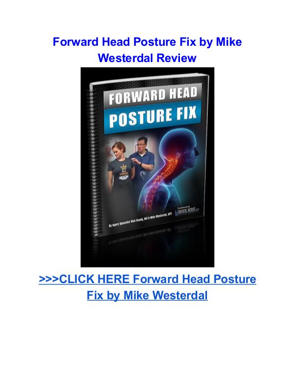 Forward Head Posture Fix Mike Westerdal pdf download Forward Head Posture Fix Mike Westerdal review