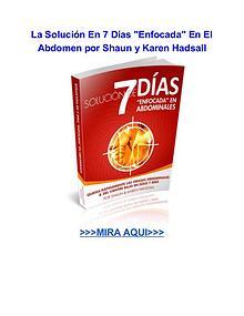 La Solución En 7 Días Enfocada En El Abdomen Shaun y Karen Hadsal