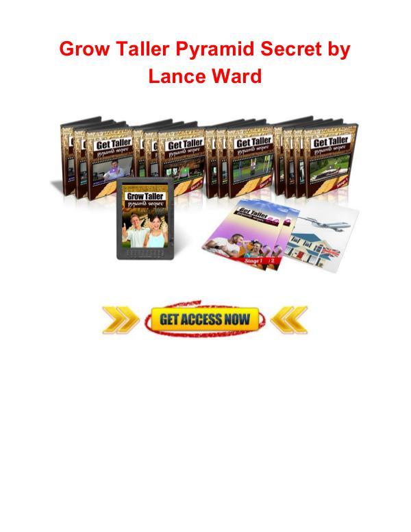 Grow taller pyramid secret Lance Ward Grow taller pyramid secret Lance Ward review