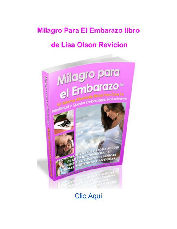 Lisa Olson Milagro Para El Embarazo libro pdf Milagro Para El Embarazo libro Lisa Olson