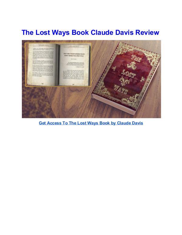 The Lost Ways Book 2 Claude Davis pdf download The Lost Ways Book 2 Claude Davis