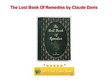 The Lost Book Of Remedies Claude Davis pdf download