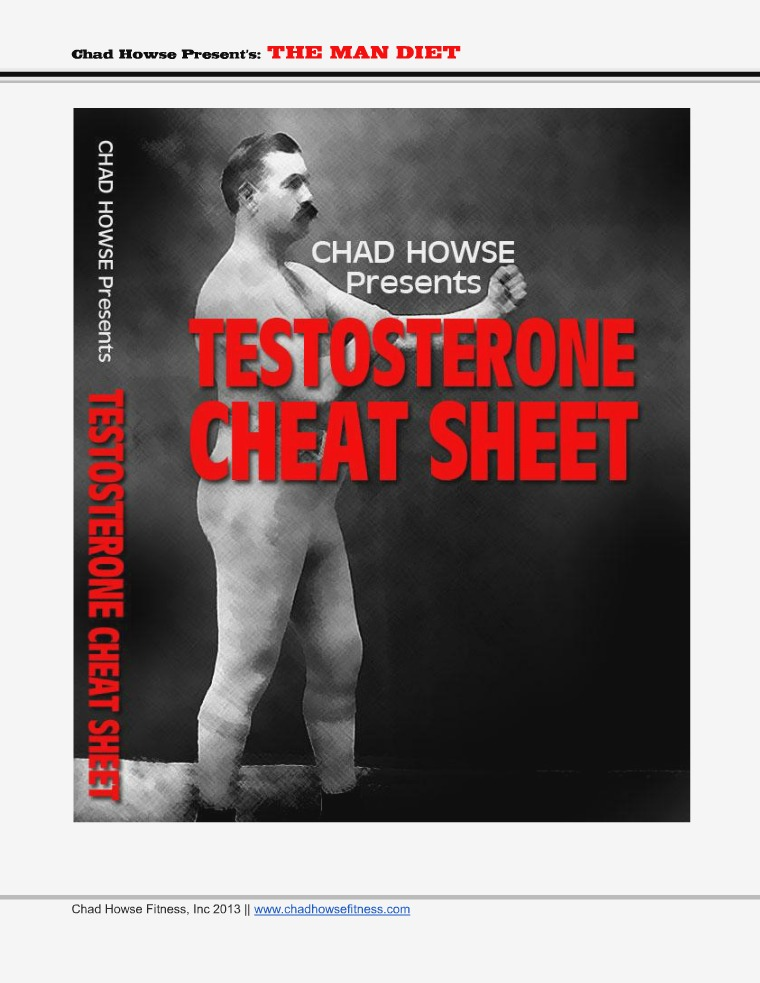 The Man Diet Chad Howse review The Man Diet Chad Howse pdf download