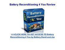 Battery Reconditioning 4 You review pdf download