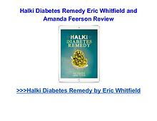 Halki Diabetes Remedy Book pdf