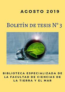Boletín de tesis N° 3 BCTM